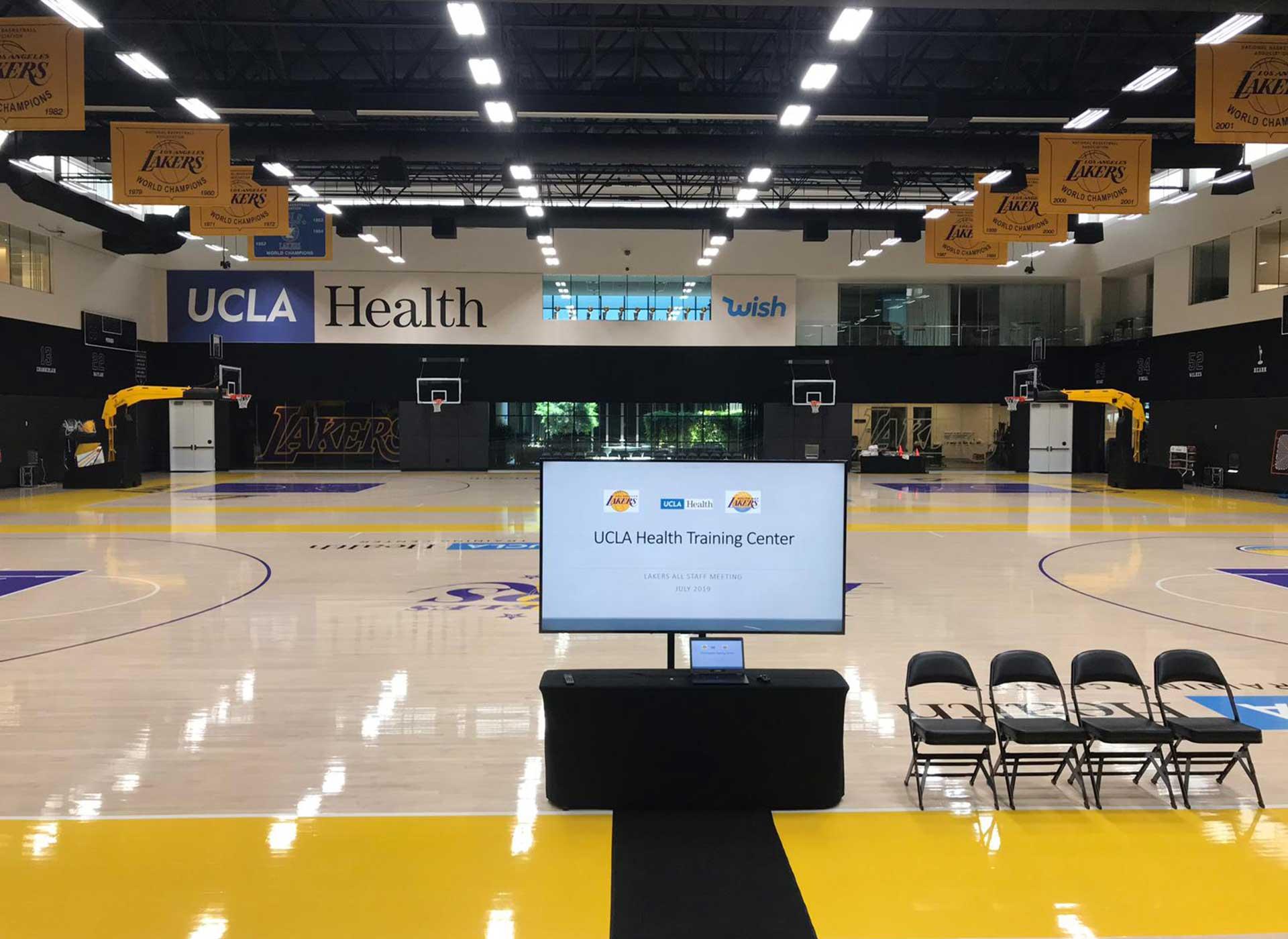MiR Audio Video Setup Before Lakers Game